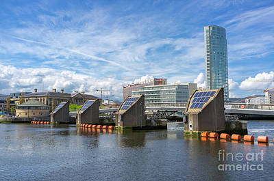 Photograph - The Lagan Weir, Belfast. by Jim Orr