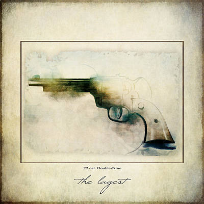 Painting - The Lagest 22 Cal Double Nine Gun by Christina VanGinkel