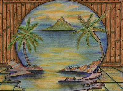Corporate Art Drawing - The Lagoon by Brian Hansen