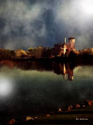 Broadmoor Painting - The Lake And The Sky by RC deWinter