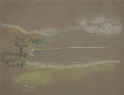 Pastel - The Lake by Arthur Bowen Davies