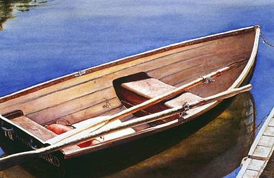 Painting - The Lake Boat by Barbara Pease