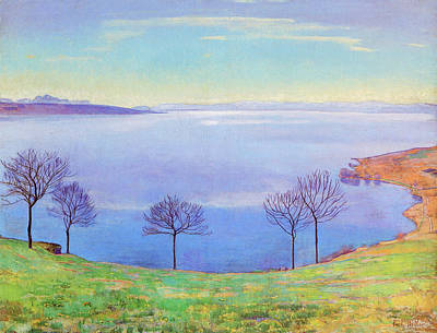 Lake Geneva Painting - The Lake Geneva From Chexbres by MotionAge Designs