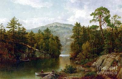 Rug Painting - The Lake George by David Johnson