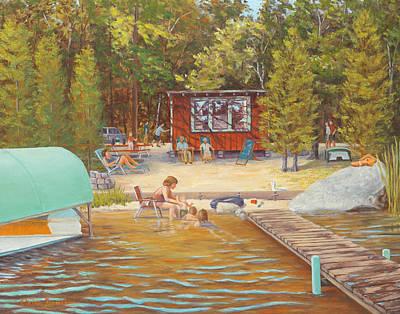 Barrette Painting - The Lake, Pascoug, Ri by Elaine Farmer