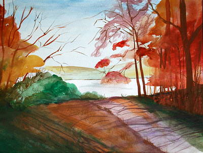 Painting - The Lake Road by Julie Lueders