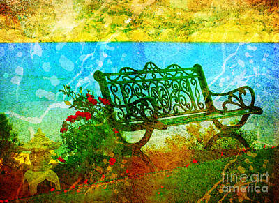 Photograph - The Lakeview Bench by Tara Turner