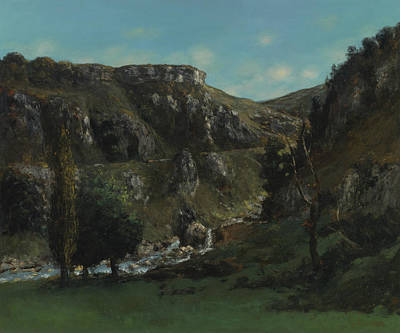 Painting - The Laloue Valley Near Mouthiers-haute-pierre by Gustave Courbet
