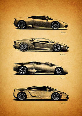 Photograph - The Lamborghini Collection by Mark Rogan