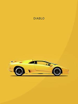 The Lamborghini Diablo Art Print by Mark Rogan