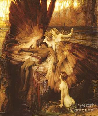 Painting - The Lament For Icarus by Pg Reproductions