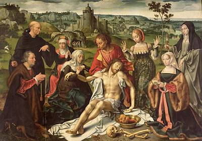 The Lamentation Of Christ Art Print by Joos van Cleve