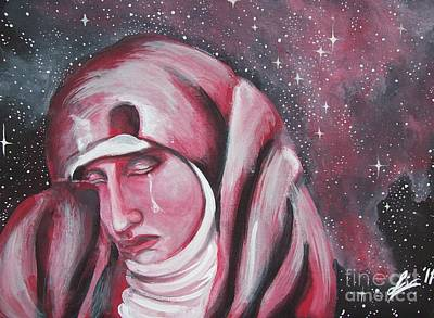 Space Painting - The Lamentation Of Mary Magdalene by Olivia Candille