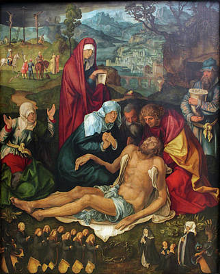 Piet Painting - The Lamentation Over The Dead Christ by Albrecht Durer