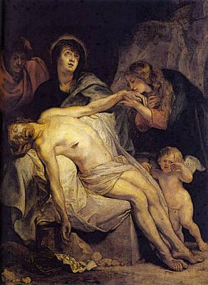 Digital Art - The Lamentation  by Sir Antony van Dyck