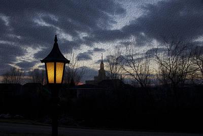 Gloria Digital Art - The Lamplight by Gloria Pasko