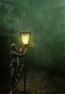 Tbilisi Digital Art - The Lamplighter by Margarita Nizharadze