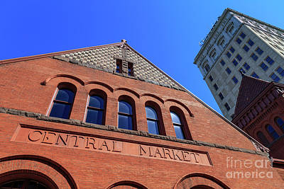 Photograph - The Lancaster Pa Brick Central Market Building by George Sheldon