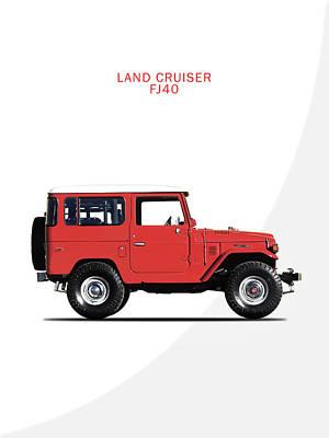 Truck Photograph - The Land Cruiser Fj40 by Mark Rogan