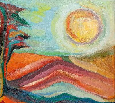 Painting - The Land by Ida Mitchell