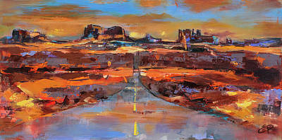 Navajo Painting - The Land Of Rock Towers by Elise Palmigiani