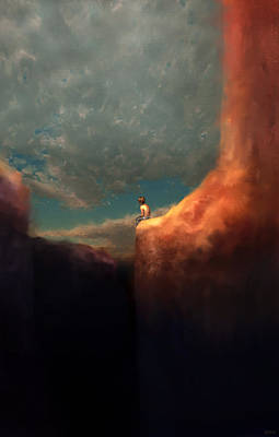 Contemplating Digital Art - The Landing by Ethan Harris