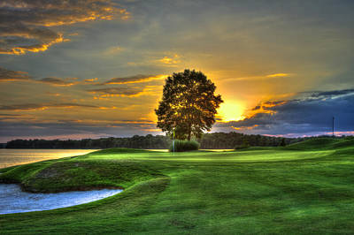 The Landing Golf Course Reynolds Plantation Art Print by Reid Callaway