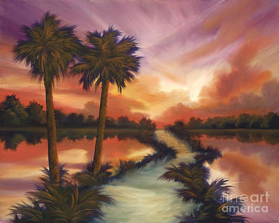Palmetto Painting - The Lane Ahead by James Christopher Hill
