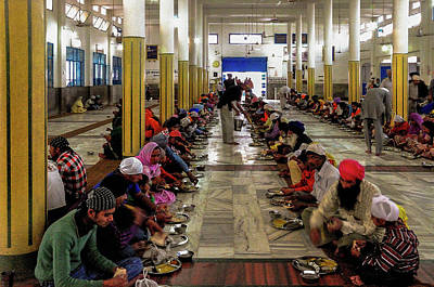 Photograph - The Langar Or Free Kitchen  by Manjot Singh Sachdeva