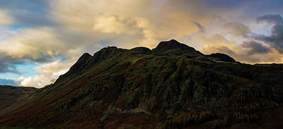 Photograph - The Langdale Pikes At Sunset by John Collier