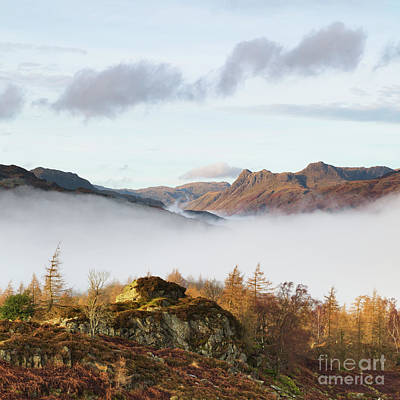 Langdale Pikes Photograph - The Langdale Pikes From Holme Fell by Tony Higginson