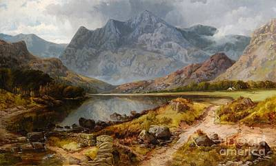 Hills Painting - The Langdale Pykes by MotionAge Designs