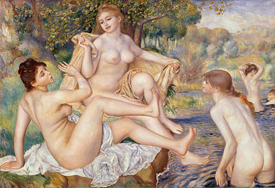 Painting - The Large Bathers by Auguste Renoir