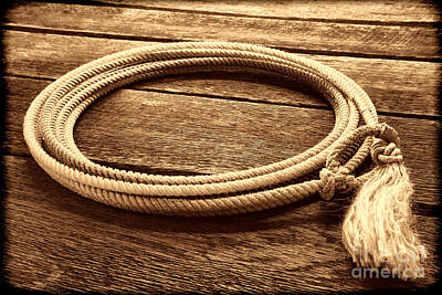 Photograph - The Lariat  by American West Legend By Olivier Le Queinec