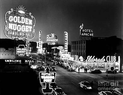 Frank Sinatra Photograph - The Las Vegas Strip - 1960 by The Titanic Project