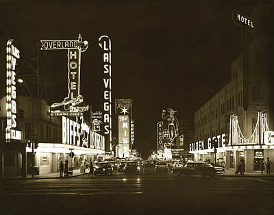 1960s Photograph - The Las Vegas Strip by Underwood Archives