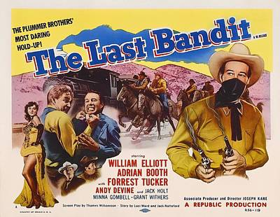 1940s Mixed Media - The Last Bandit 1949 by Mountain Dreams