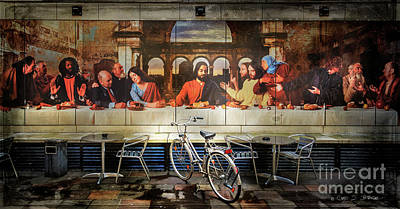 Photograph - The Last Bicycle Discussion by Craig J Satterlee