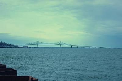 The Last Bridge Before The Ocean   Art Print
