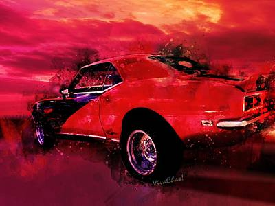 Digital Art - The Last Chase Muscle Car Shootout by Chas Sinklier