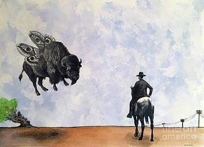 The Last Cowboy Art Print