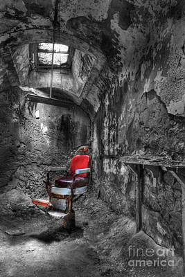 Photograph - The Last Cut- Barber Chair - Eastern State Penitentiary by Lee Dos Santos