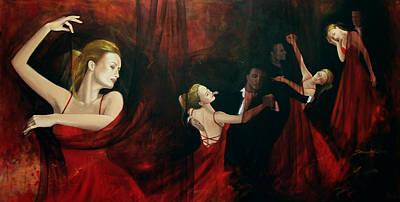 Waltz Painting - The Last Dance by Dorina  Costras