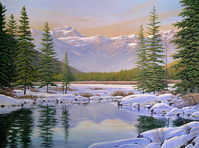 Painting - The Last Days Of Winter by Jake Vandenbrink