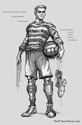 Goalkeeper Drawing - The Last Defense by Tyler Gooden