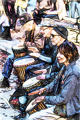 Digital Art - The Last Drum Circle by John Haldane