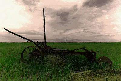 Photograph - The Last Field Worked by Jeff Swan