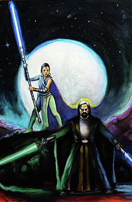 The Last Jedi Art Print by Chris Bahn