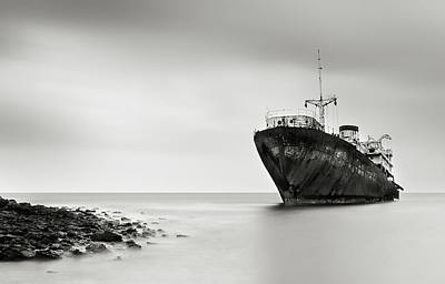 Shipwreck Wall Art - Photograph - The Last Journey by Inigo Barandiaran