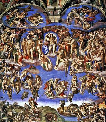 Painting - The Last Judgement by Michelangelo Buonarroti